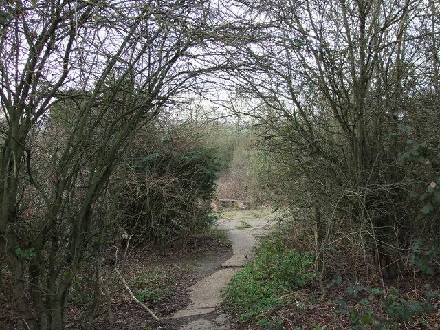 Entrance to a former plot on Dunton Plotlands