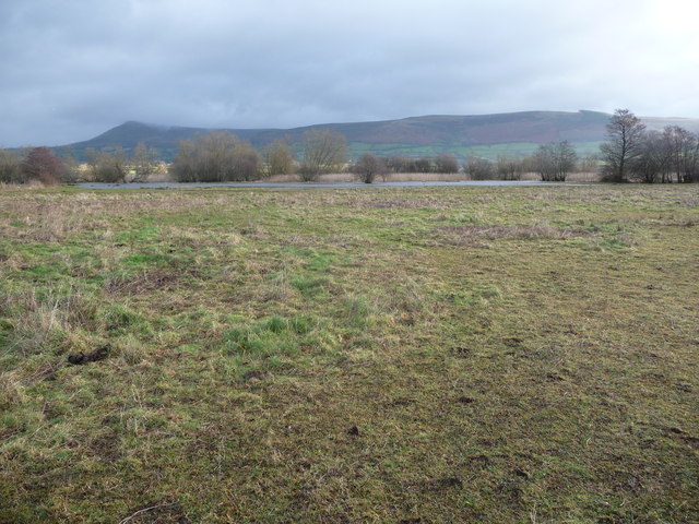 View from fields bordering Llangorse Lake