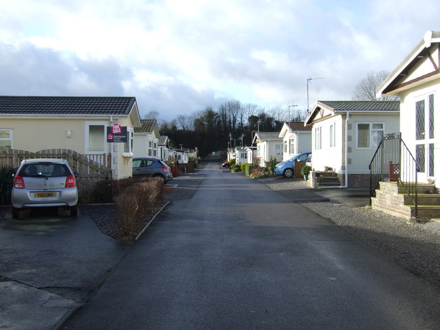 Access road, Quarry Moor Caravan Park