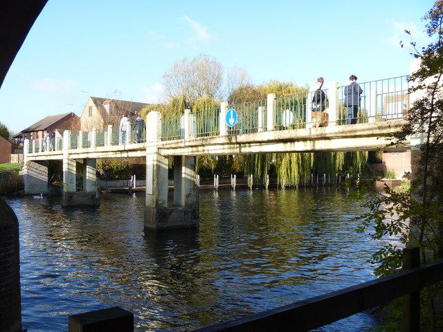 River footbridge