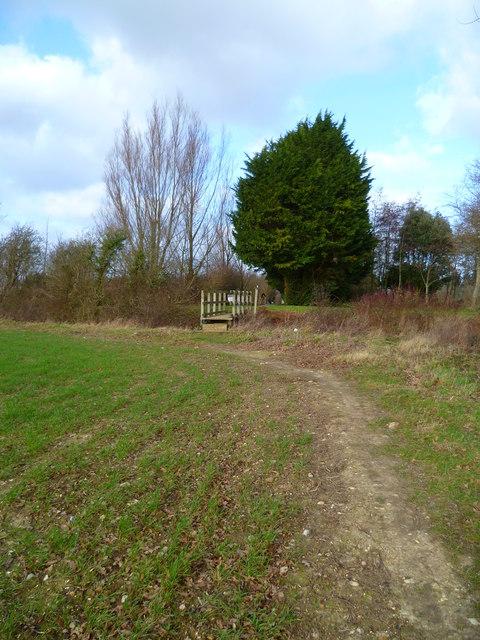 Footbridge to Chichester Golf Course