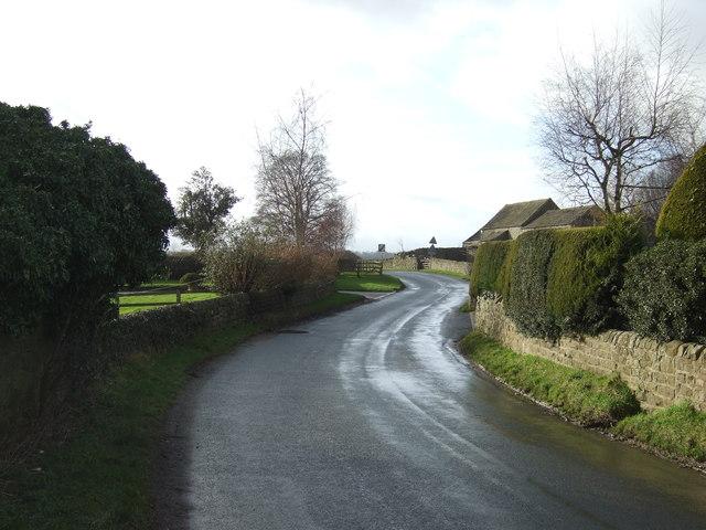Mill Lane towards Shaw Mills