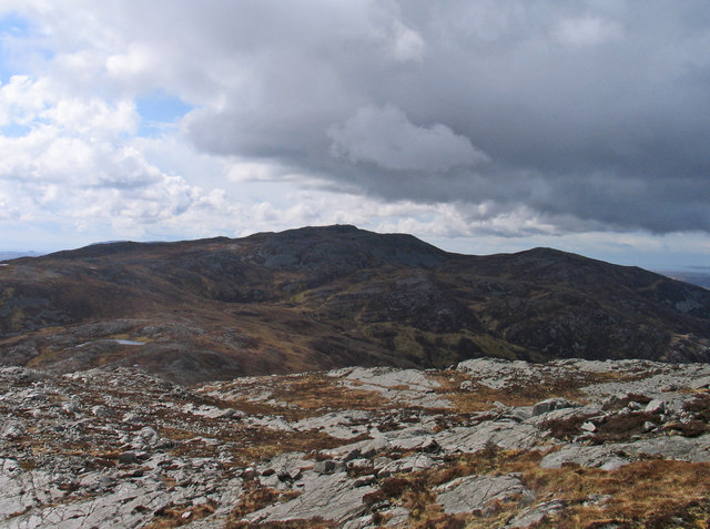 Rock plating of ridge south-south-west from Glas Bheinn
