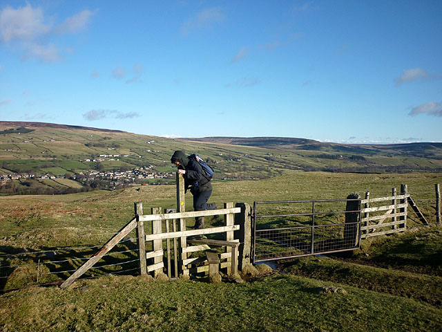 Stile and gate above Middleton-in-Teesdale on the Pennine Way