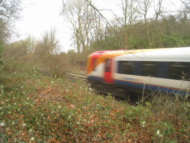 Passing train (London bound)