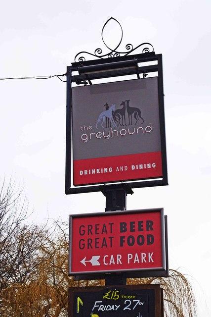 The Greyhound (2) - sign, 30 Rock Hill, Bromsgrove