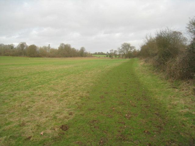Path beside railway