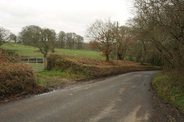B3217 near Dornaford Cross
