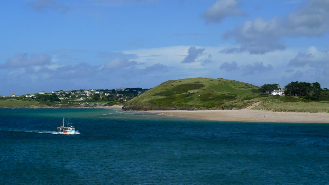 Brea Hill and Trebetherick across The Camel Estuary from Padstow