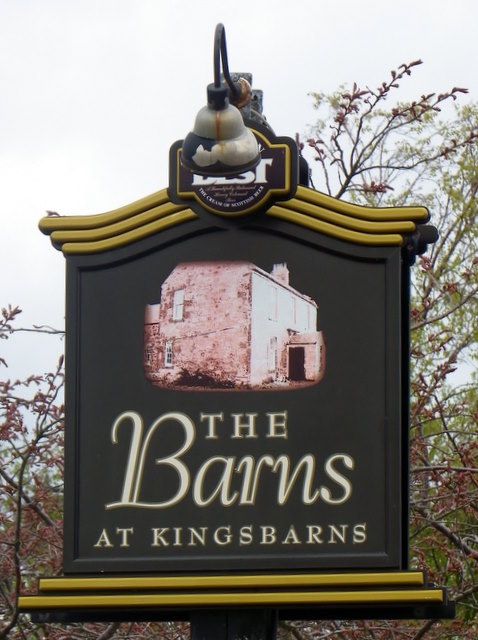 Sign for the Barns at Kingsbarns