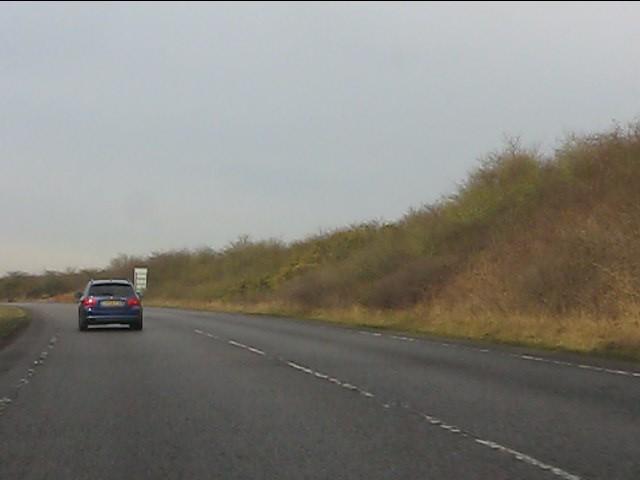 A41 Newport bypass in cutting