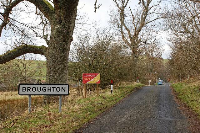 Entering Broughton