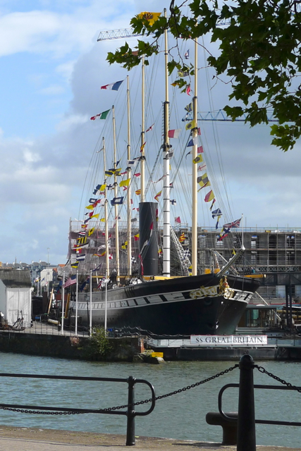 SS Great Britain off the Floating Dock Bristol
