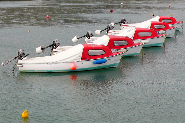 Pleasure Boats in Lyme Regis harbour.