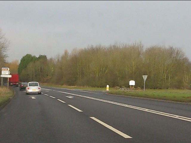 A41/A529 junction, Hinstock