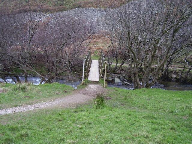 Footbridge over the River Heddon