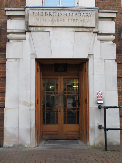 Entrance to the British Library - Newspaper Library, Colindale Avenue, NW9