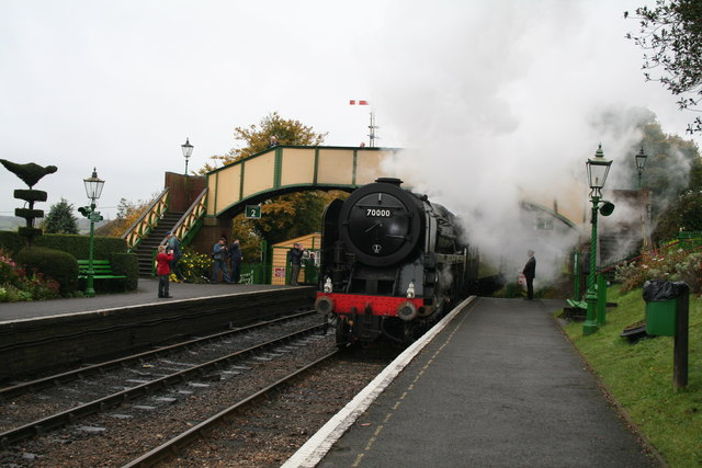 Ropley,Hampshire:  locomotive 70000 'Britannia'