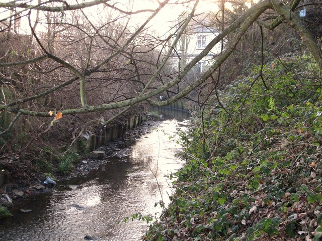 Silk Stream, south of Colindale Avenue, NW9