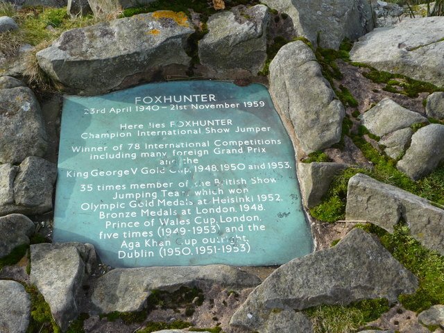 Foxhunter Memorial plaque