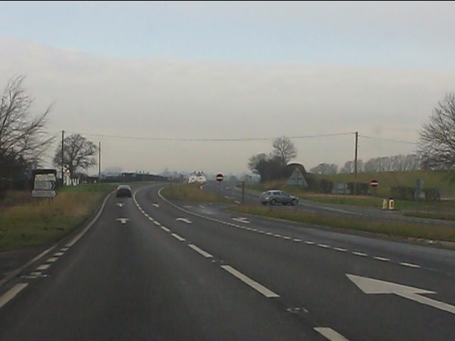 A41 at the  junction for Bletchley