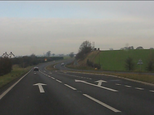 A41 northwest of Bletchley