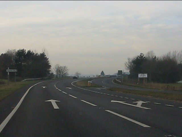 A41 at the junction for Moretonwood