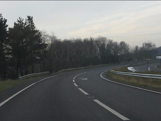 A41 at the track to Hoarstone