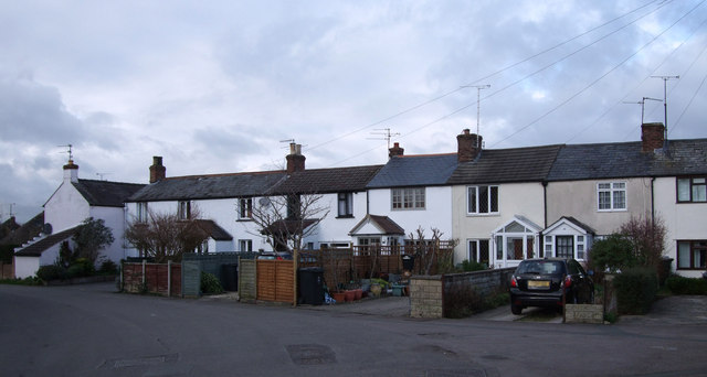 Terraced houses in Old Shaw Lane