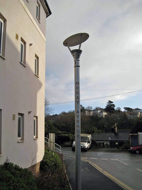 Street light, McKay Avenue