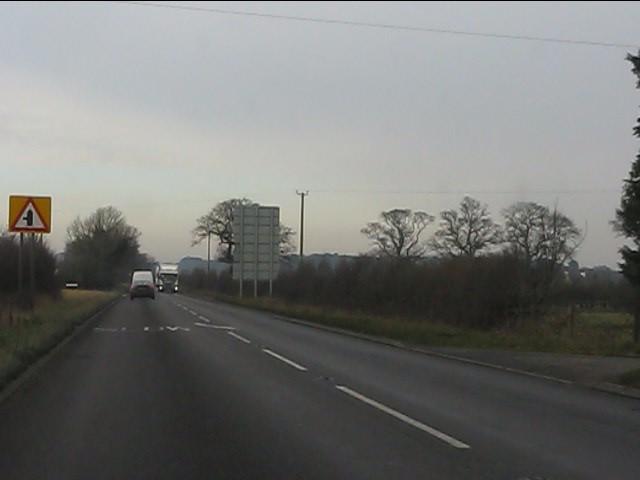 A41 near the sewage works