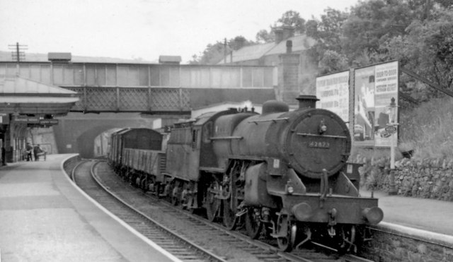 Down freight at Matlock Station