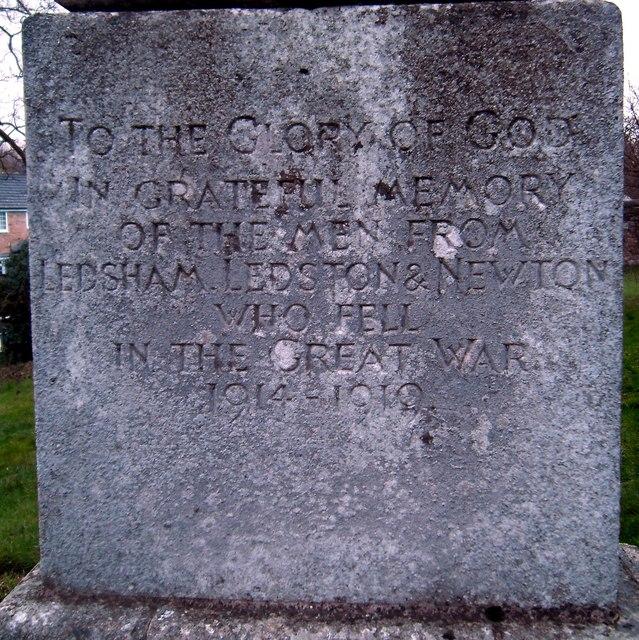 Ledham War Memorial Dedication