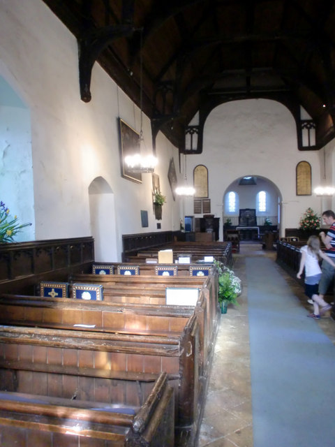 Interior of church of St Mary and St Thomas, Knebworth
