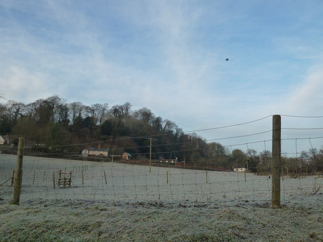 Frosty field adjacent to the B3006