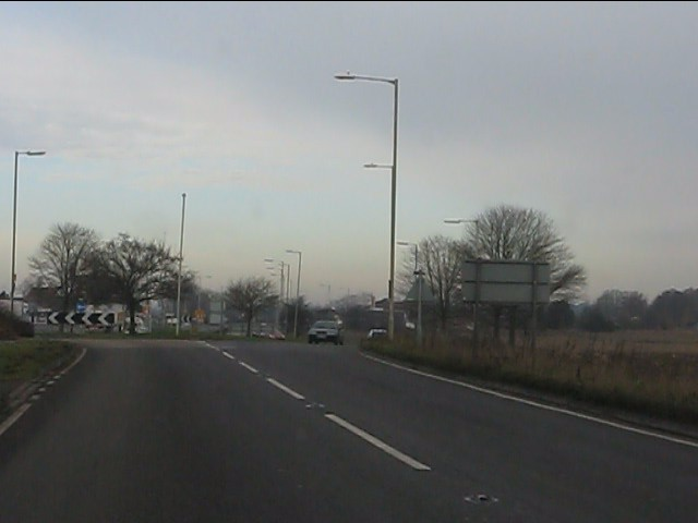 A41 approaching the A49 roundabout