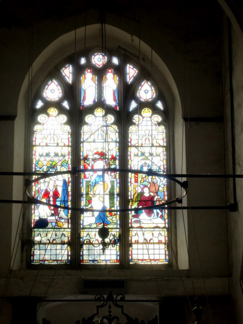 Stained Glass Window, Church of St Mary and St Thomas, Knebworthh