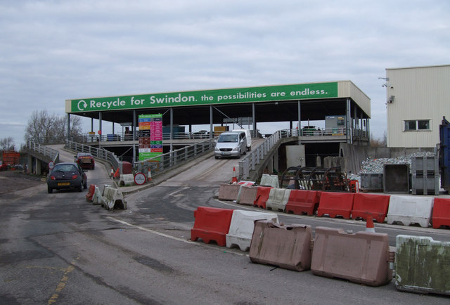 Household Waste Recycling Centre, Darby Close, Cheney Manor Industrial Estate