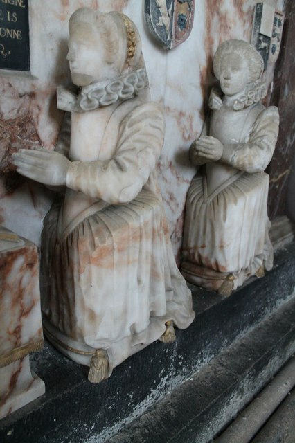 Anne and Catherine Heneage, memorial, St Mary's, Hainton