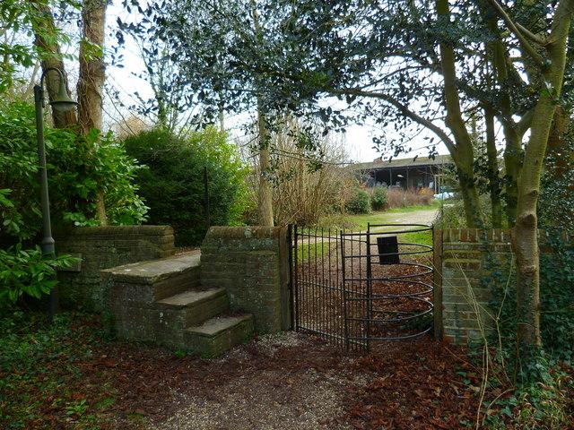 Kissing gate at Sidlesham church