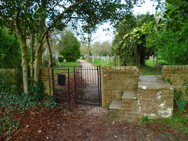 Gate at Sidlesham churchyard