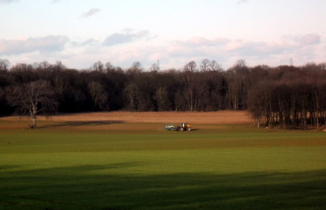 Tractor at work in Fryston Park