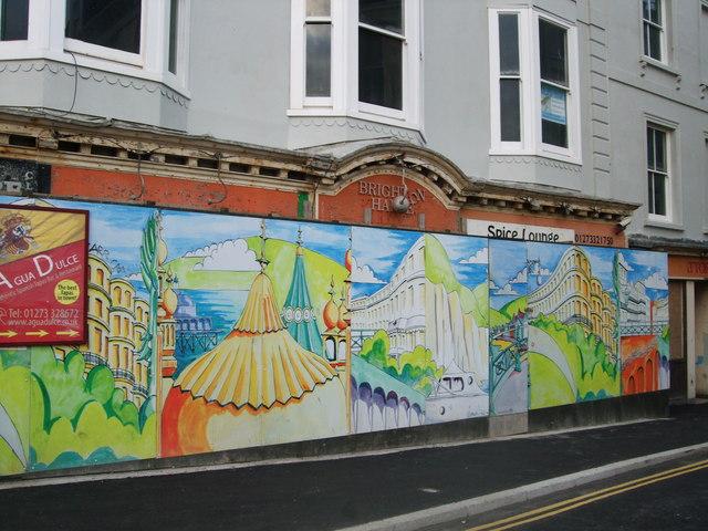 Mural in Kings Road, Brighton
