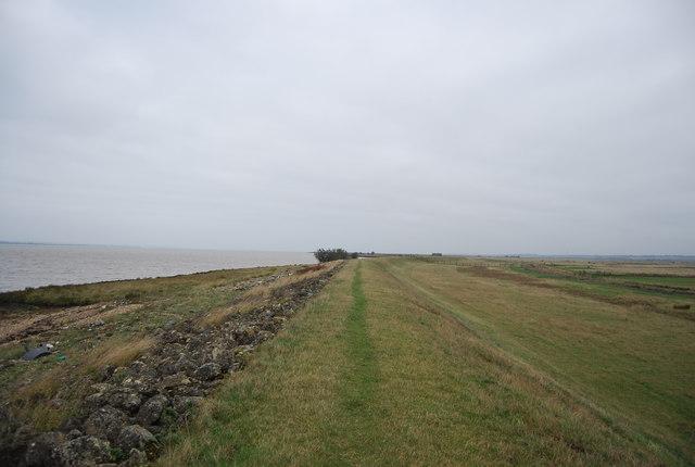 Footpath on seawall
