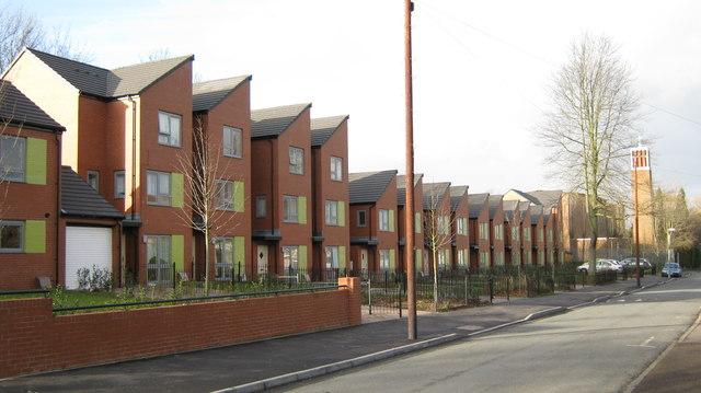 Modern housing, Hodge Hill