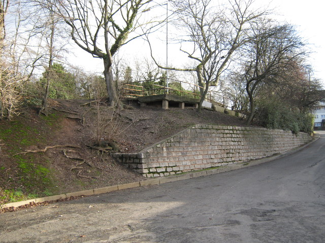 Footpath slope from Newport Road