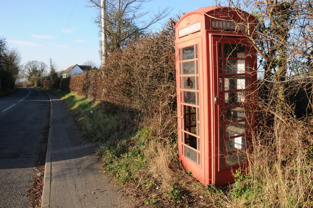 Telephone box on Copcut Lane