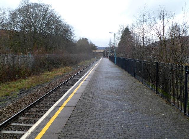 Treorchy railway station platform