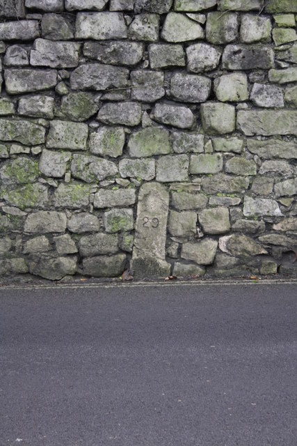 Admiralty boundary stone #29, New Road
