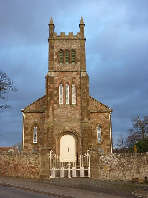 East Lothian Townscape : The Parish Church at Bolton, near Haddington
